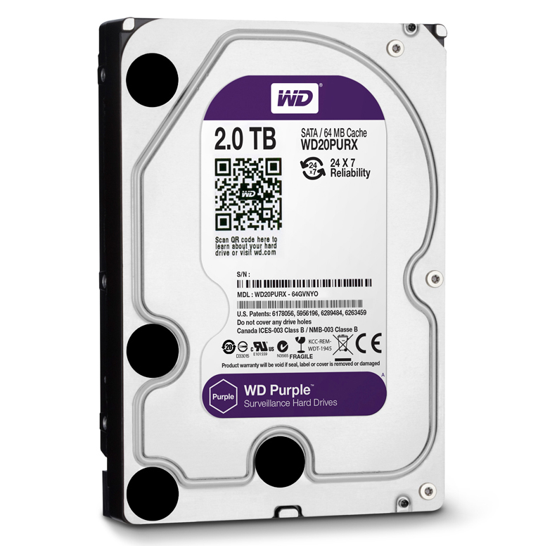 "Ổ Cứng Trong PC WD 2TB 3.5"" Purple™"