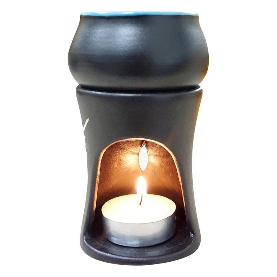 Đèn Nến Đốt Tinh Dầu Hình Trụ Lorganic DX0005