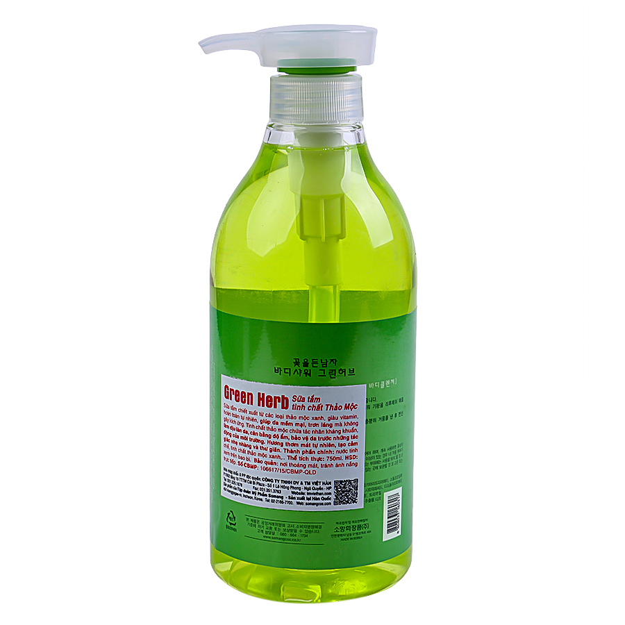 Sữa Tắm Tinh Chất Thảo Mộc Somang Cosmetic Green Herb (750ml)