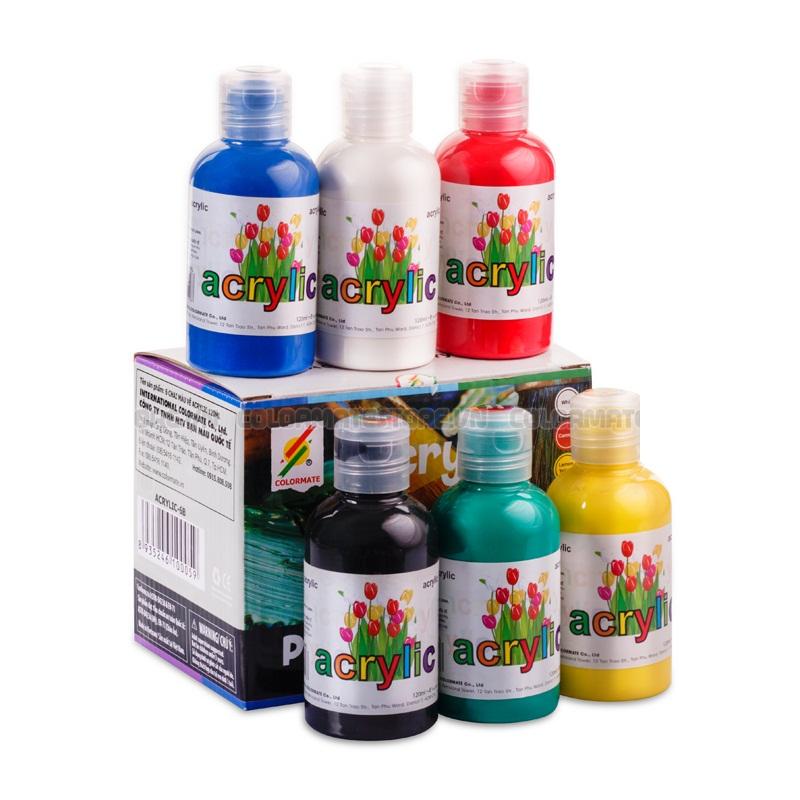 Hộp 6 Chai Màu Vẽ Colormate Acrylic - ACRYLIC-6B