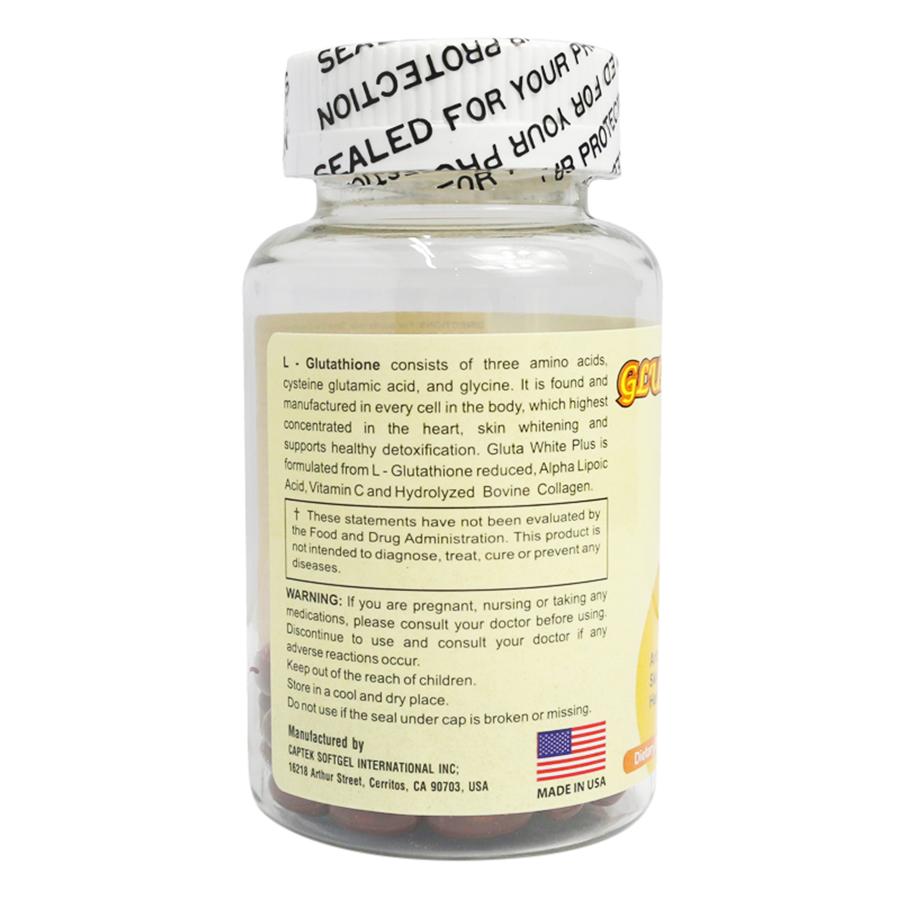 Thực Phẩm Chức Năng Viên Trắng Da Gluta White Plus GLUTAWHITEPLUS (60 Viên)