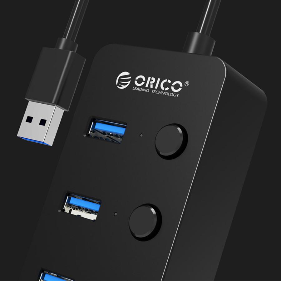 Hub USB 3.0 Orico 4 Cổng W9PH4 - Hàng Chính Hãng