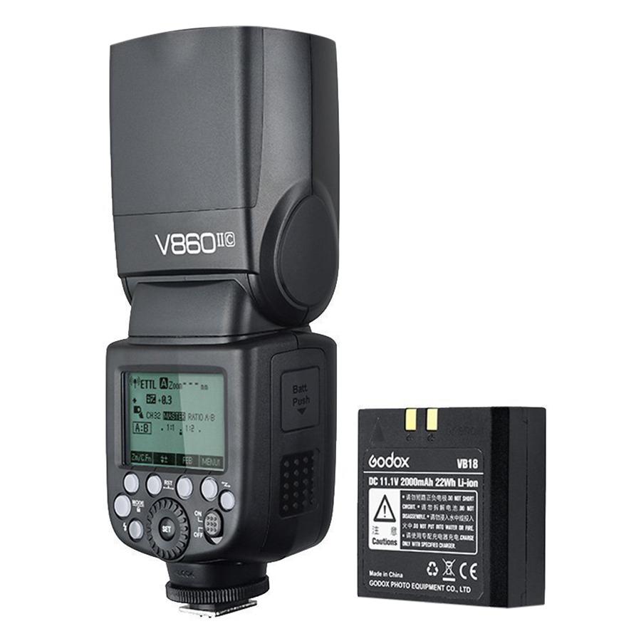 Đèn Flash Godox Li-ion VING V860C II E-TTL Dùng Cho Máy Ảnh Canon - Hàng nhập khẩu