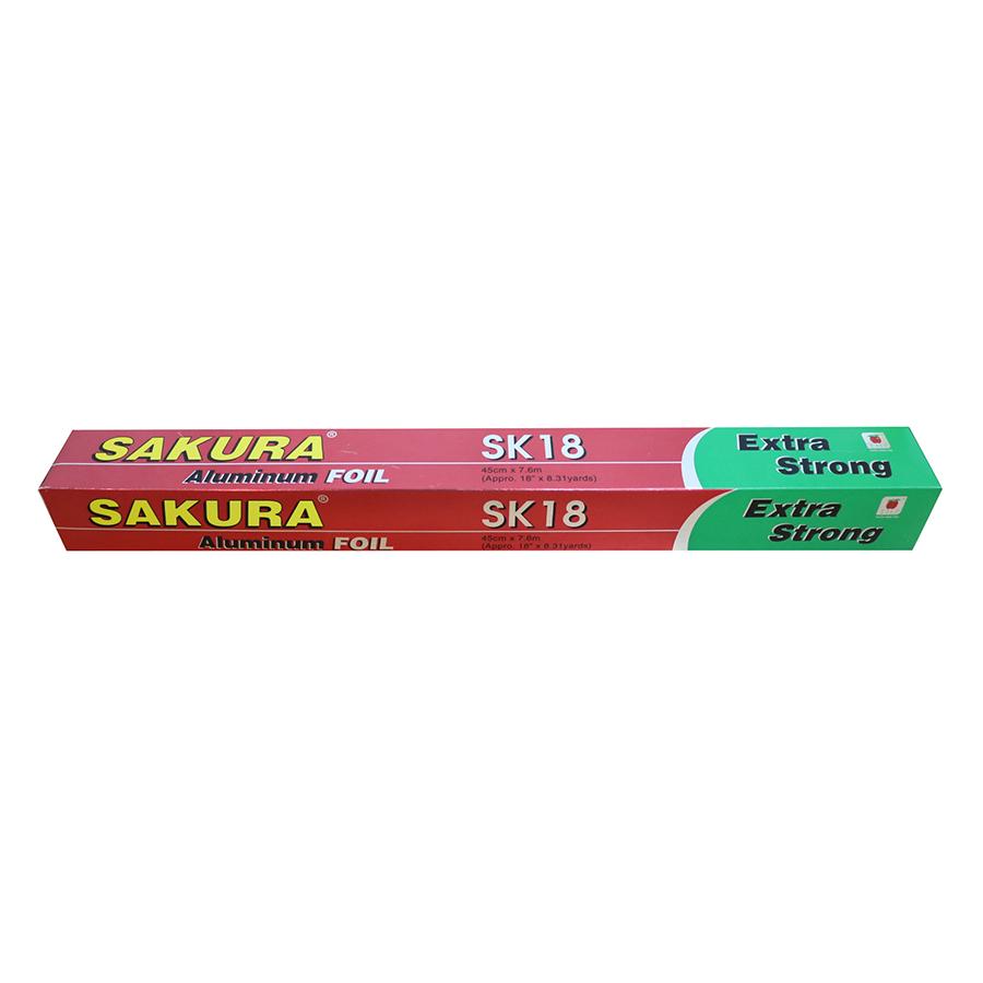 Bộ 2 Nhôm Lá Mỏng Sakura SK18 (45cm x 7.62m)