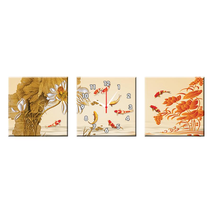 Bộ Ba Tranh Đồng Hồ Treo Tường Thế Giới Tranh Đẹp Q16-45-DH