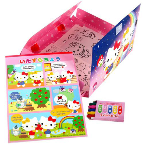 Bộ Tập Tô Hello Kitty KT Drawing Set