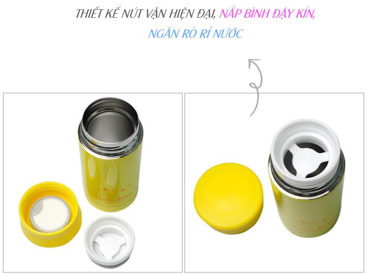 Bình Giữ Nhiệt Hello Bebe Love Lock&Lock HBB313 (200ml) - Vàng