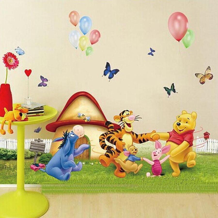 Decal Gấu Vui Cùng Bạn Size Nhỏ Lala Shop DC063 (50 x 94 cm)