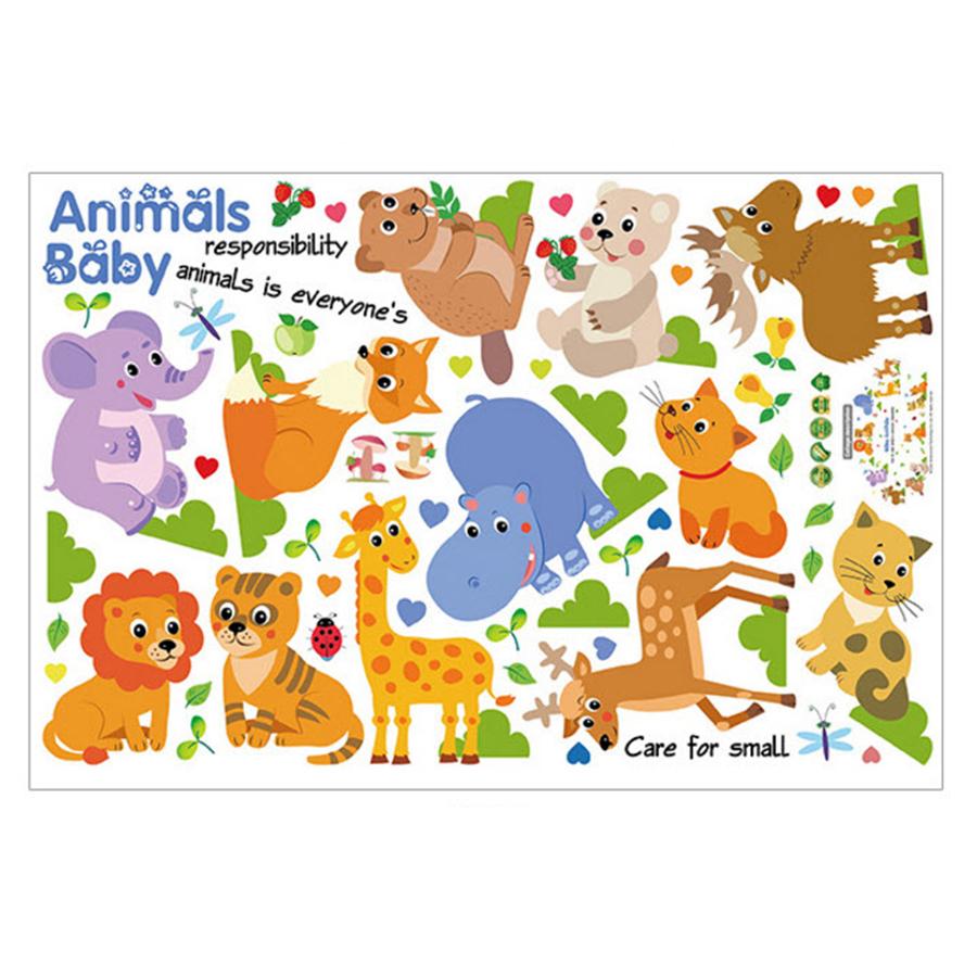 Decal Vườn Thú Baby Animals Lala Shop DC1737 (75 x 140 cm)