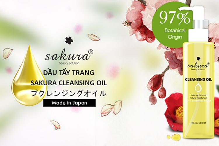 Dầu Tẩy Trang Sakura Cleansing Oil (200g)