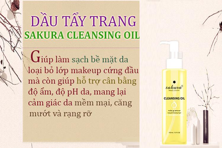 Dầu Tẩy Trang Sakura Cleansing Oil (150ml) 4