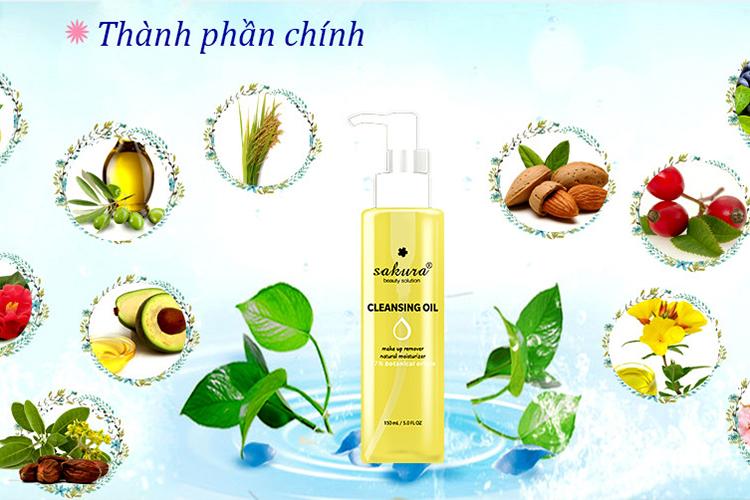 Dầu Tẩy Trang Sakura Cleansing Oil (150ml) 5