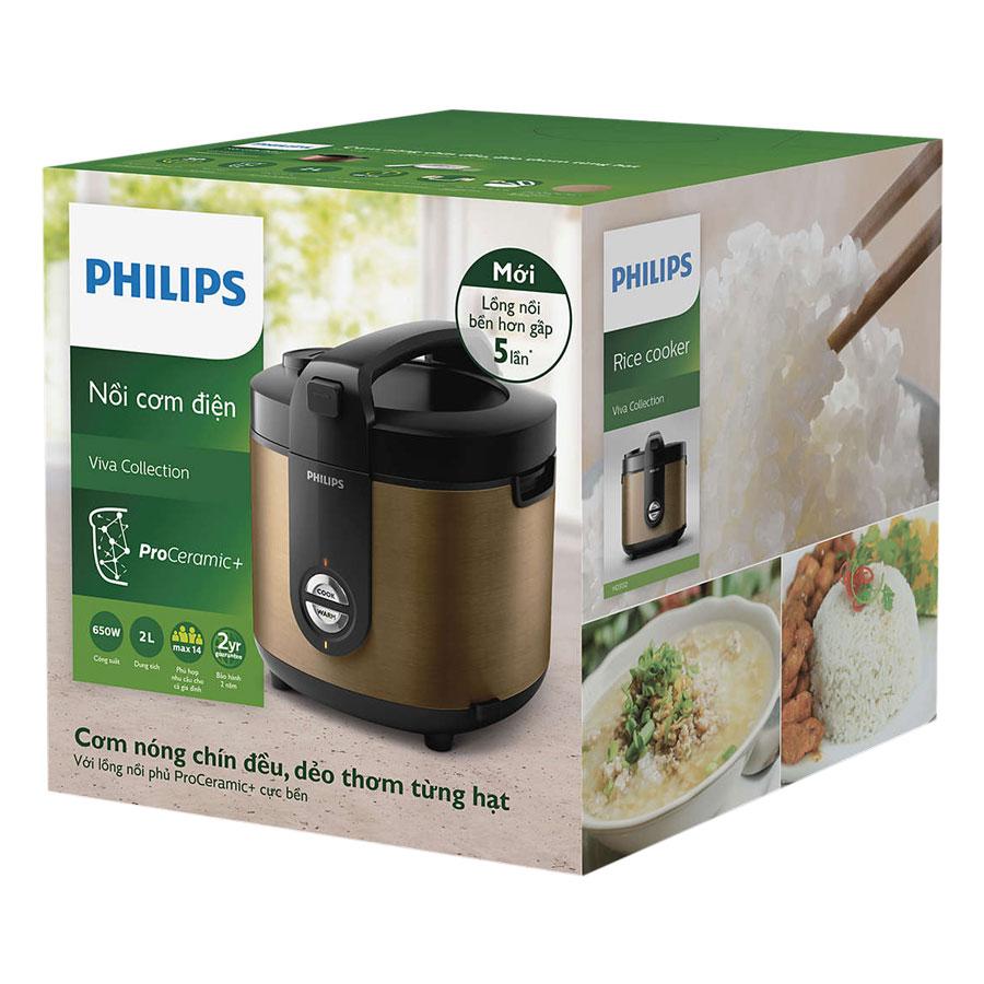 Nồi Cơm Điện Philips HD3132/68 (2 Lít) - Hàng chính hãng