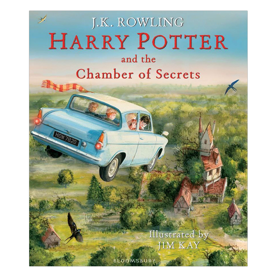 Harry Potter Part 2: Harry Potter And The Chamber Of Secrets (Hardback) Illustrated Edition (Harry Potter và Phòng chứa bí mật) (English Book)