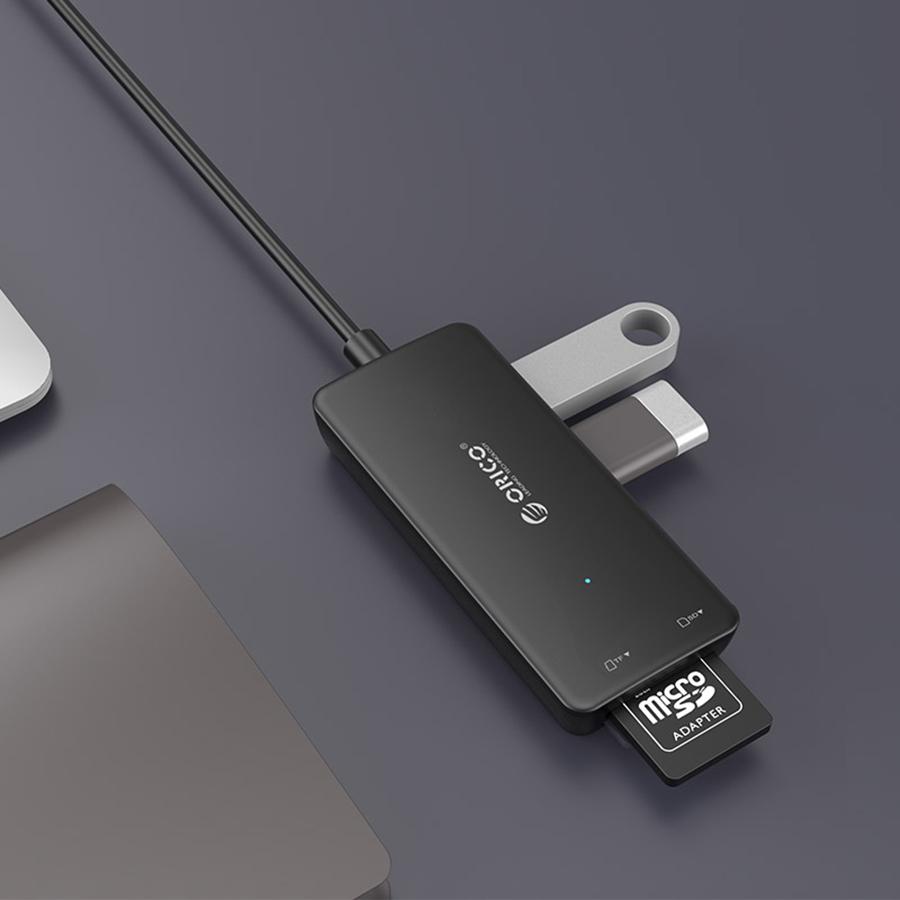 Hub USB 2.0 Orico 3 Cổng H3TS-U2 - Hàng Chính Hãng