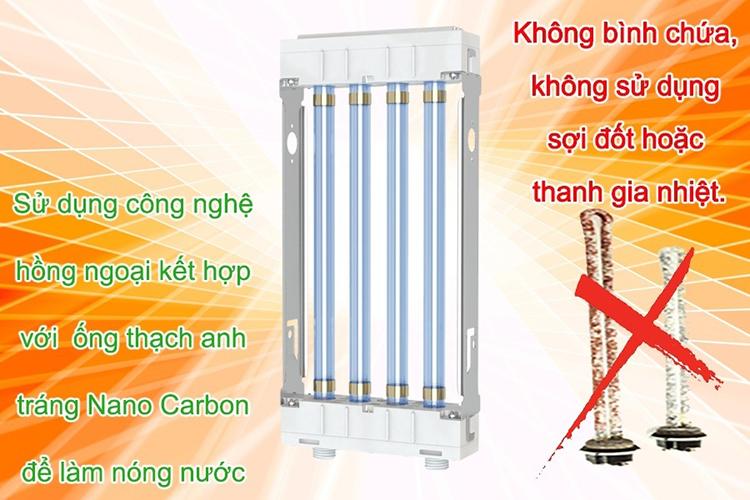 Máy Nước Nóng Hồng Ngoại SuperGreen IR-234 (3200W) - Trắng - Hàng Chính Hãng + Tặng Sen Tăng Áp