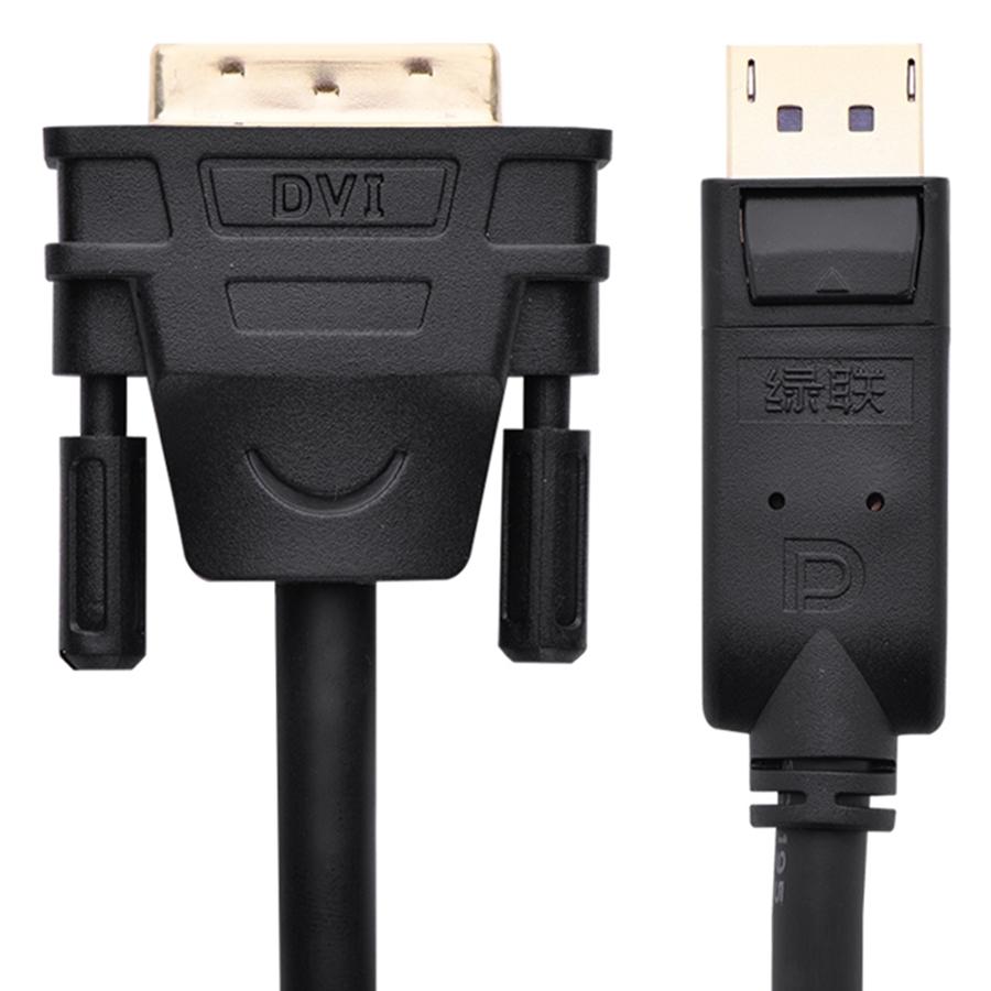 Cáp DP Male To DVI Male Ugreen DP103 10223 (5m) - Đen - Hàng Chính Hãng