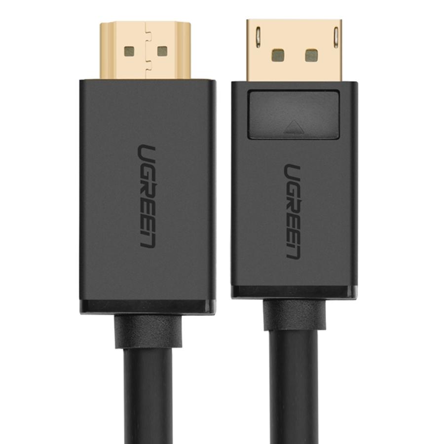 Cáp DisPlayport To HDMI Ugreen DP101 10202 (2m) - Đen - Hàng Chính Hãng