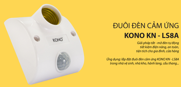 Đuôi Đèn Cảm Ứng KONO KN-LS8A
