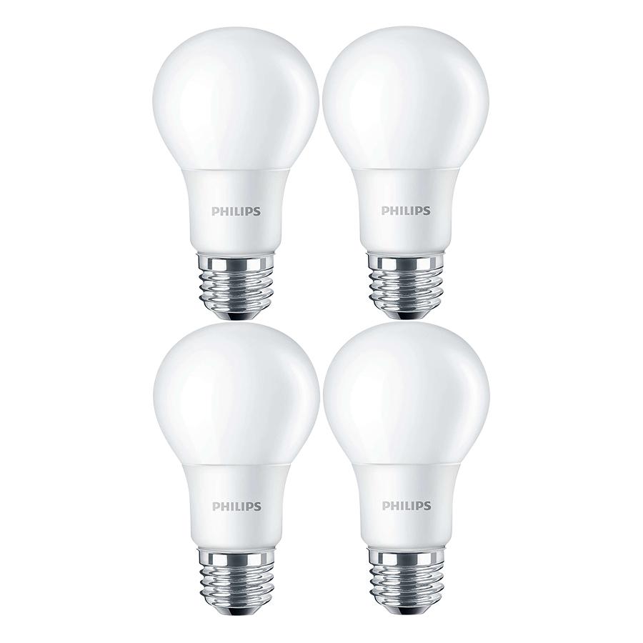 Bộ 4 Bóng Đèn Philips LED Ledbuld 10.5W 6500K E27 A60 - Ánh Sáng Trắng  - Hàng Chính Hãng