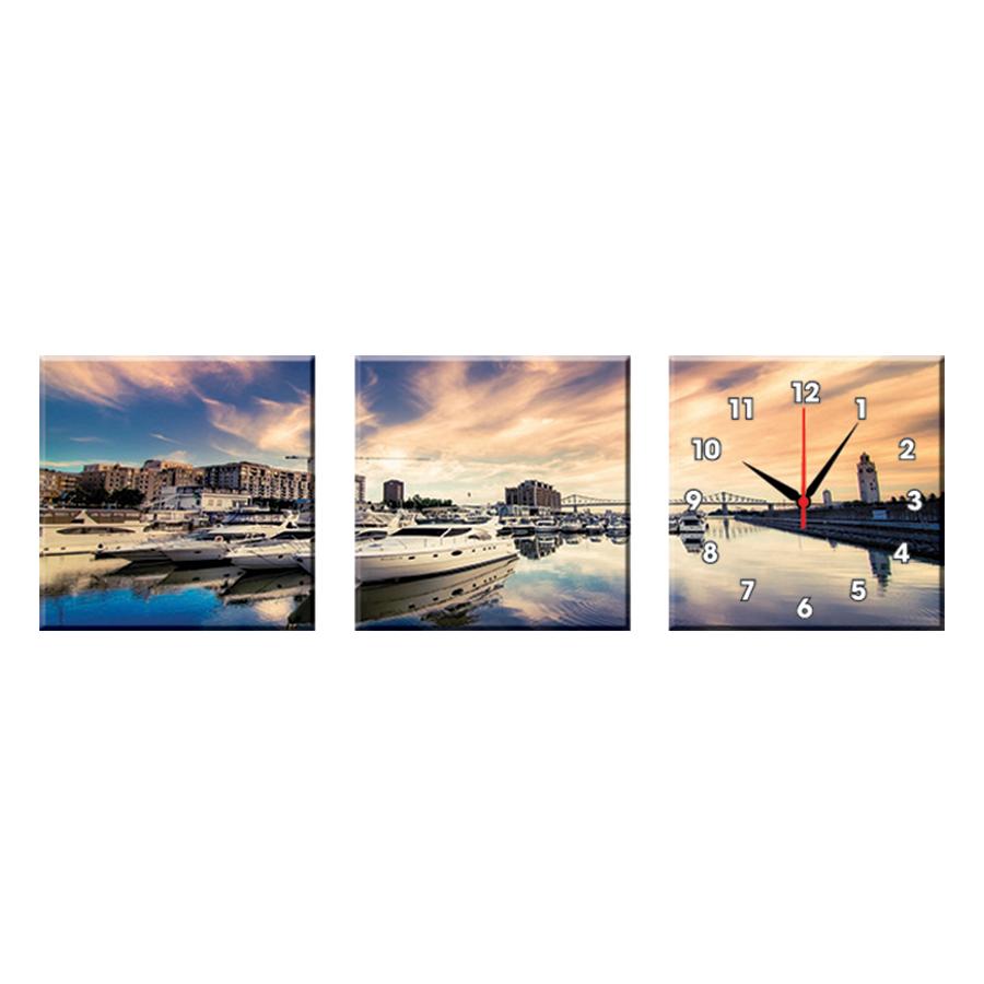 Bộ Ba Tranh Đồng Hồ Treo Tường Thế Giới Tranh Đẹp Q16-54-DH