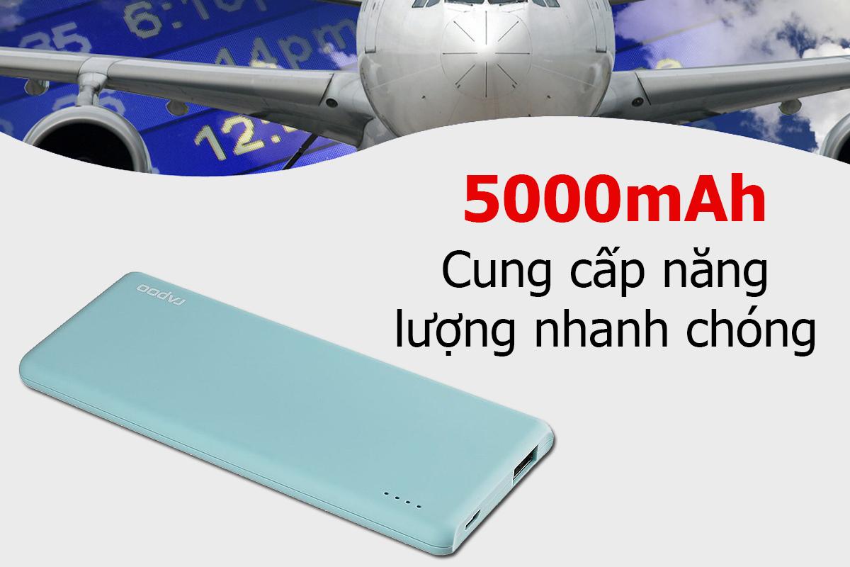 Pin Sạc Dự Phòng Rapoo P20 5000mAh - Hàng Chính Hãng