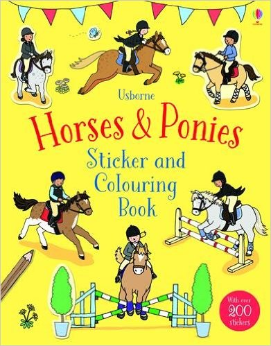 Sách tô màu Horses and Ponies Sticker And Colouring Book