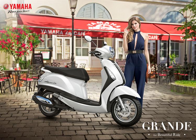 Xe Yamaha Grande Premium - Trắng