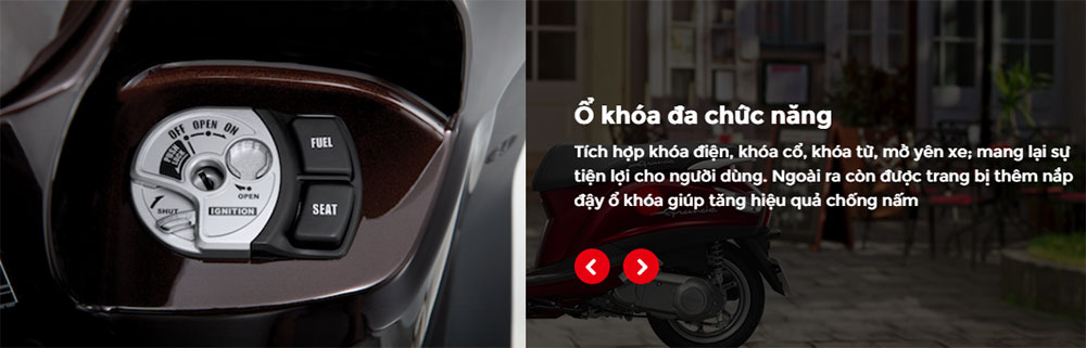 Xe Yamaha Grande Deluxe - Trắng Sữa