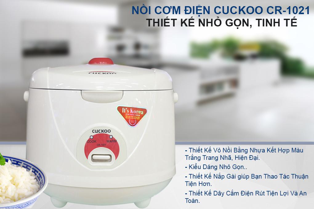 Nồi Cơm Điện Cuckoo CR-1021 - 1.8L