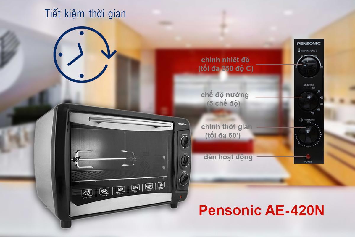 Lò Nướng Có Đối Lưu Pensonic AE-420N 42L