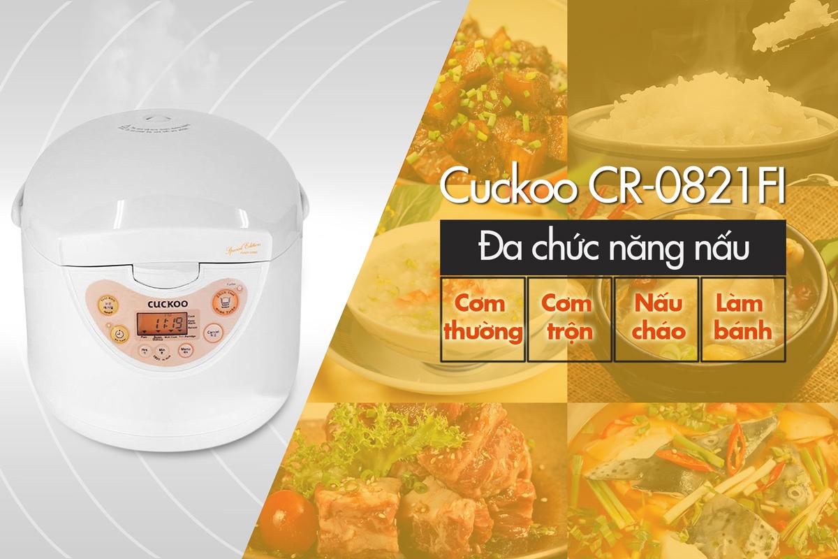 Nồi Cơm Điện Tử Cuckoo CR-0821FI - 1.5L
