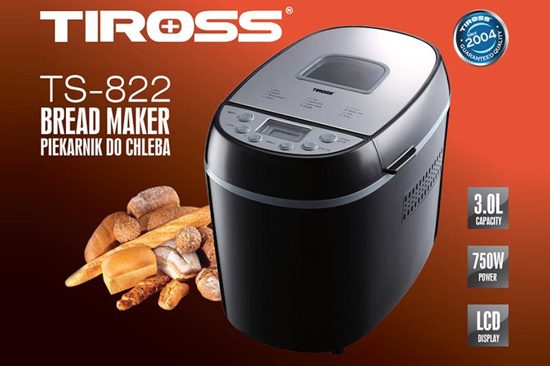Máy Làm Bánh Mỳ Tiross 12 Chức Năng TS822