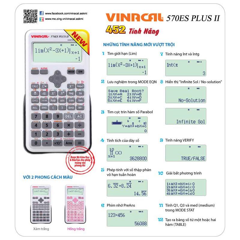 Máy Tính Vinacal 570ES Plus II