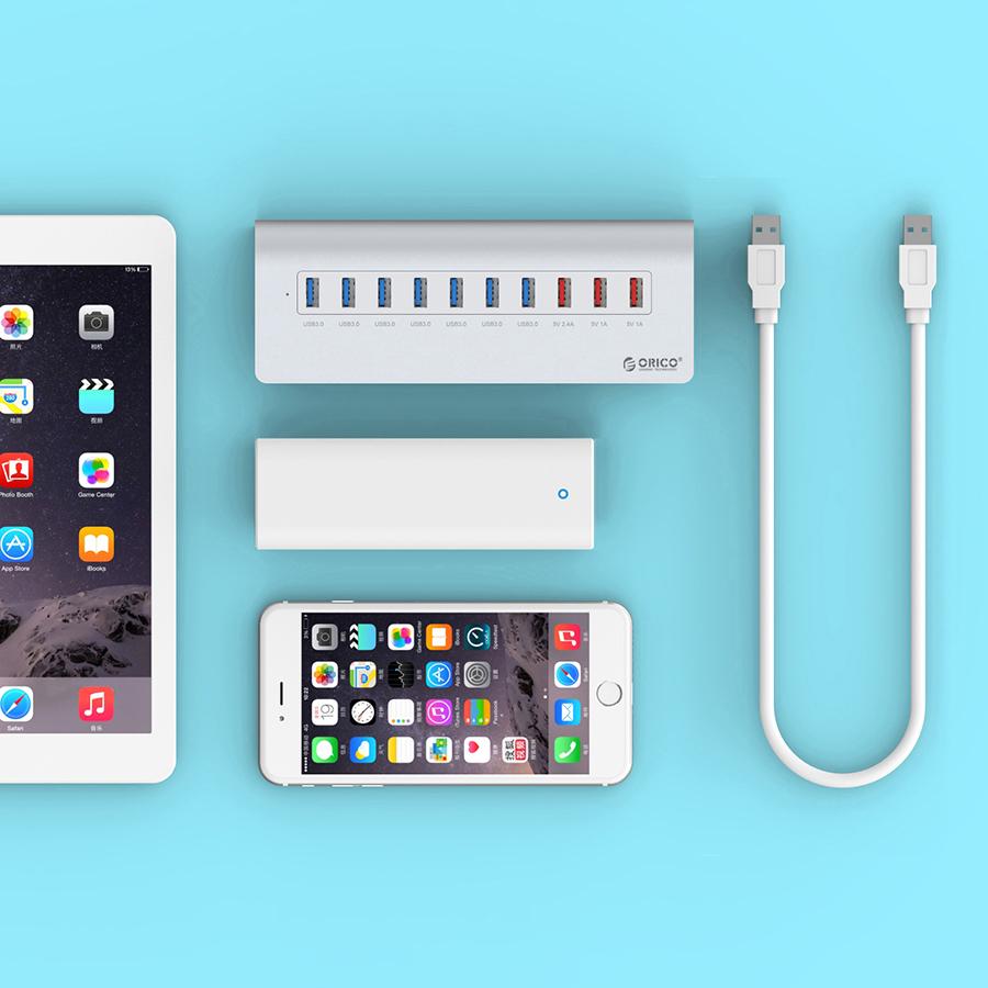 Hub USB 3.0 Orico 10 Cổng M3H73P - Hàng Chính Hãng  = 1.270.000 ₫