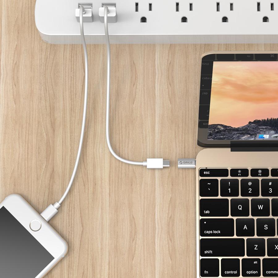 Bộ Chuyển Micro USB Type B Sang Type C Orico CTM1-SV - Hàng Chính Hãng