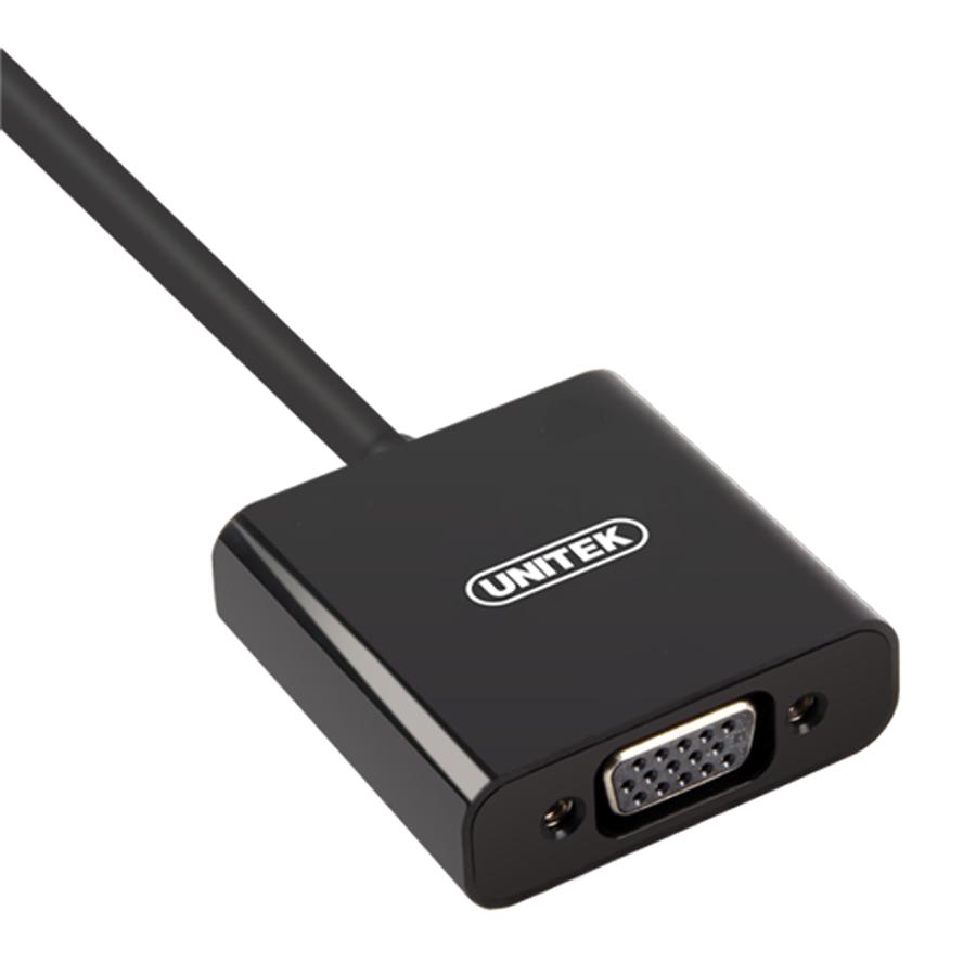 Cáp Chuyển HDMI Ra VGA Unitek Y6333 (0.2m) - Hàng Chính Hãng