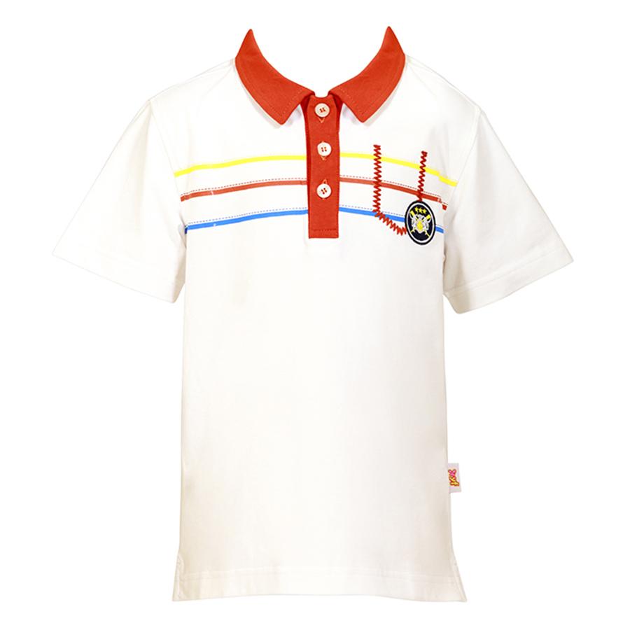Áo Thun Polo Bé Trai Cổ Cam YF 5AY052 - Trắng