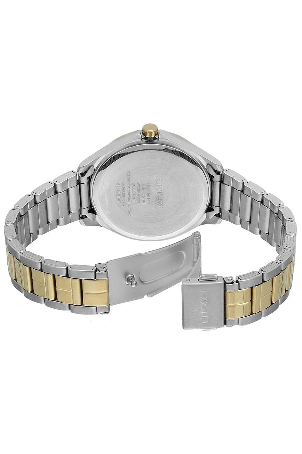 Đồng Hồ Citizen Nữ Đính Đá Swarovski Dây Kim Loại Pin-Quartz EV0054-54D - Mặt Xà Cừ (34mm)