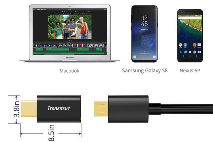 Bộ 3 Đầu Chuyển Đổi USB-C Sang Micro USB 2.0 Tronsmart CTMF3 - Hàng Chính Hãng