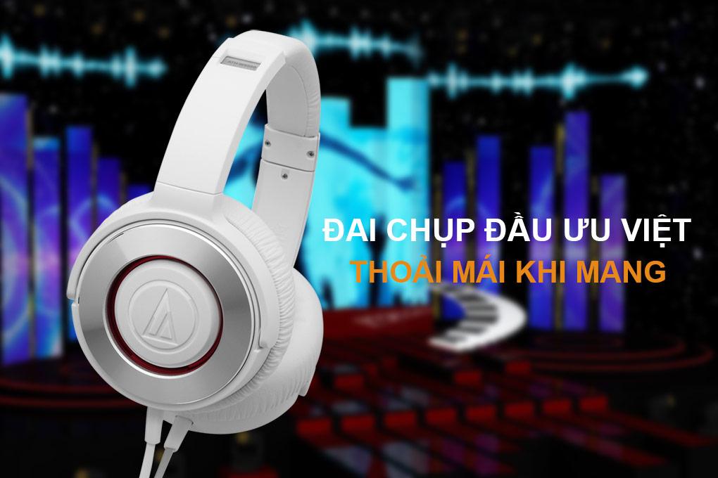 Tai Nghe Audio-Technica ATH-WS550iS Chụp Tai