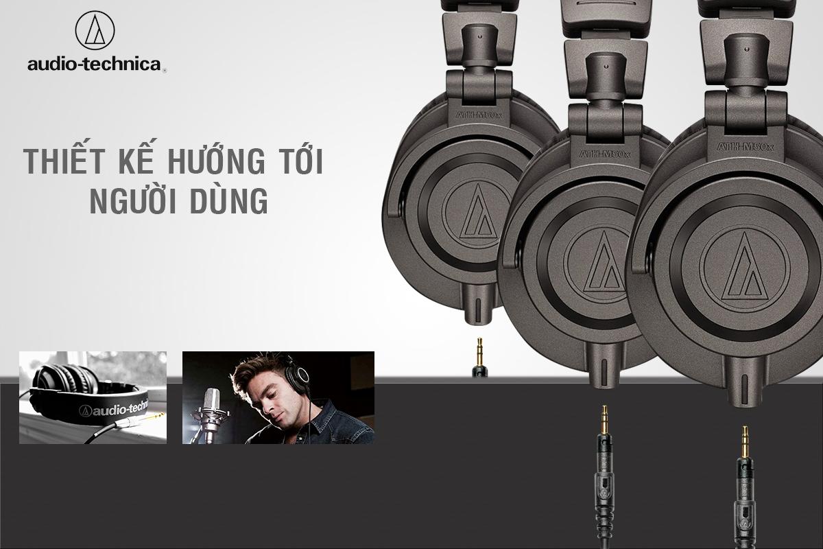 Tai Nghe Audio-Technica ATH-M50X MG Chụp Tai - Limited Edition
