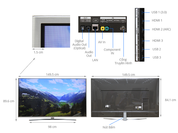 Smart Tivi 4K LG 65 inch 65UH770T - Hàng chính hãng