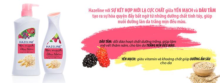 Sữa Tắm Dưỡng Sáng Da Hazeline Yến Mạch - Dâu Tằm 67146056 (700g)
