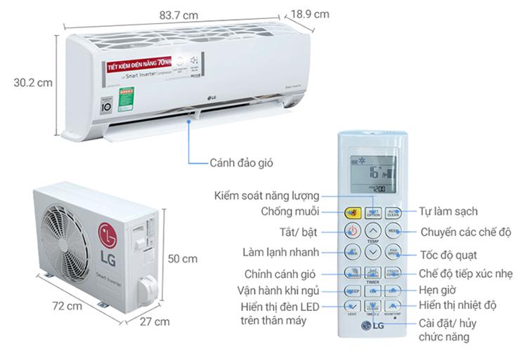 Máy Lạnh Inverter LG V10APR (1.0HP)