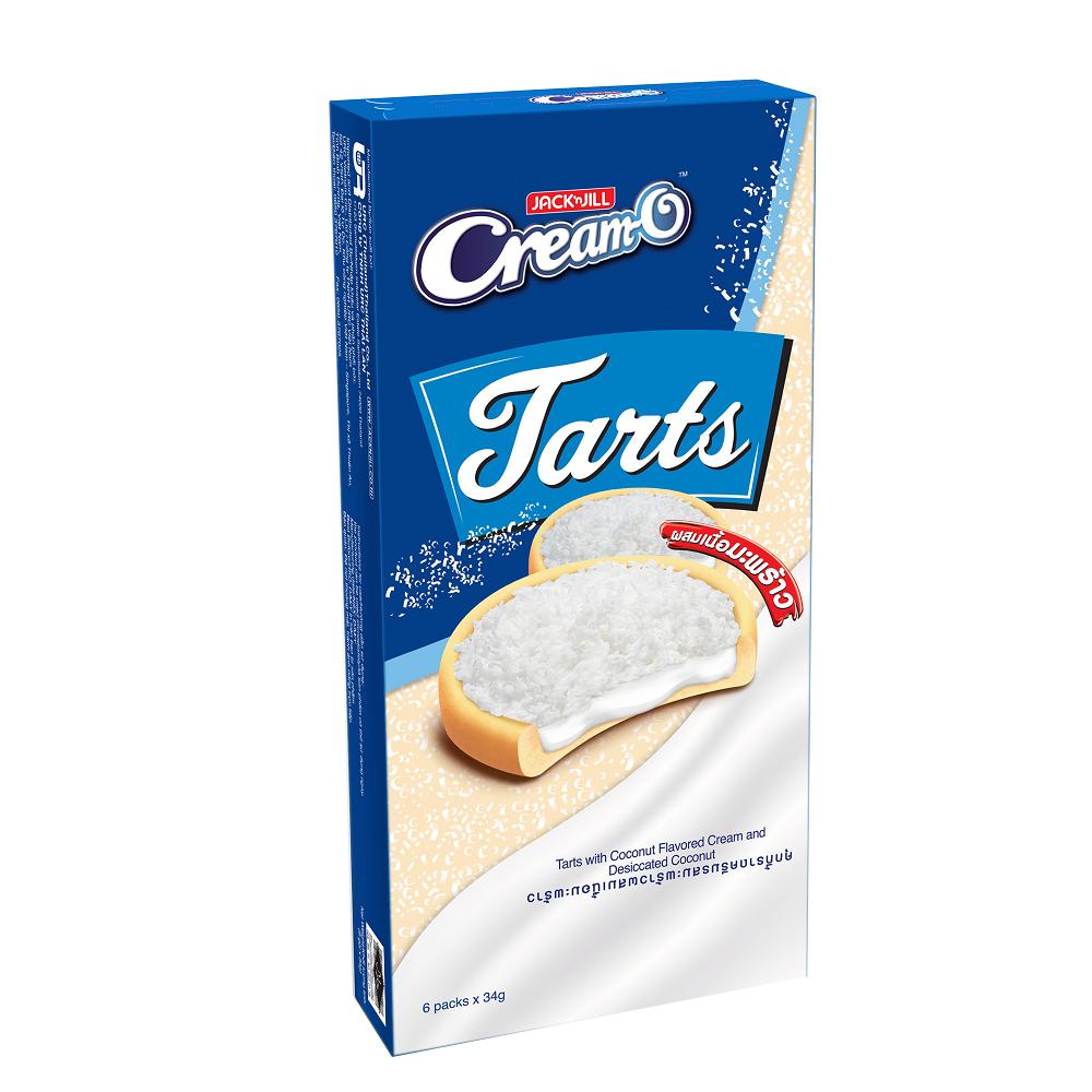 Bánh Quy CreamO Tart Dừa (6 Gói x 34g)
