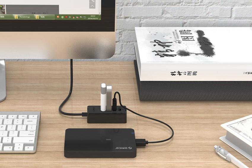 Hub USB 2.0 Orico 4 Cổng W5PH4-U2 - Hàng Chính Hãng