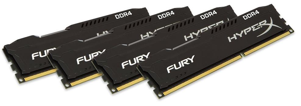 RAM Kingston 16GB 3000MHz DDR4 CL15 DIMM (Kit of 4) HyperX FURY Black - HX430C15BPK2/16