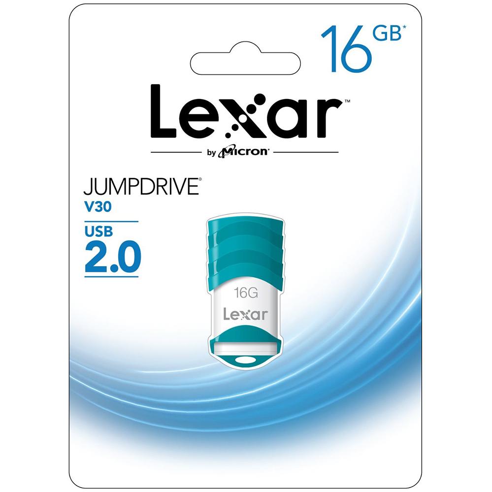 USB Lexar JumpDrive V30 - 16GB 2.0 - Xanh