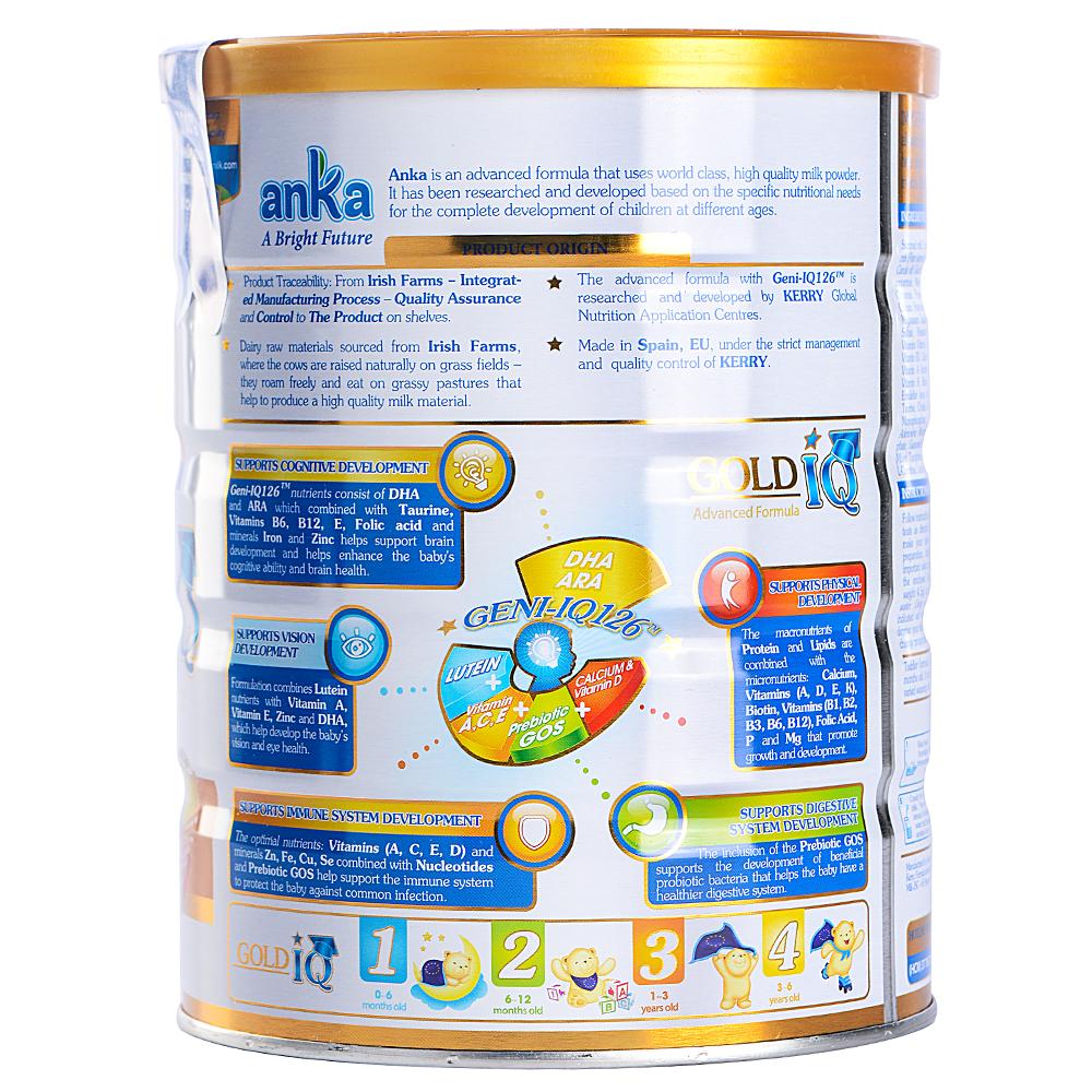 Sữa Anka Gold IQ Step 3 Dành Cho Bé 1 - 3 Tuổi (900g)